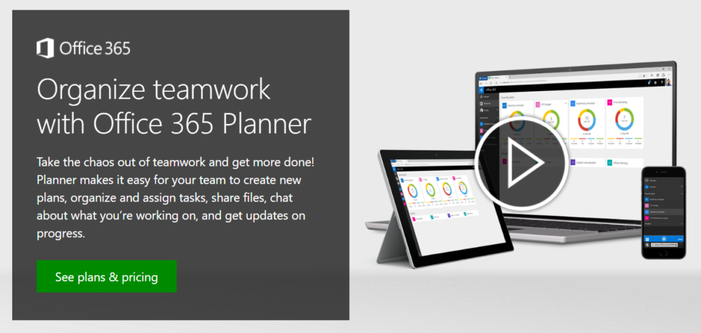 Organize teamwork with Office 365 Planner